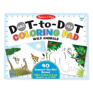 Melissa & Doug ABC 123 Dot-to-Dot Coloring Pad Wild Animals