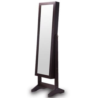 Ikee Design Jewelry and Accessory Wood Armoire with Mirror
