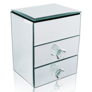 Ikee Design Crystal Clear and Glamorous Mirrored Jewelry Box