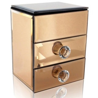 Ikee Design Glamorous Mirrored Jewelry Box