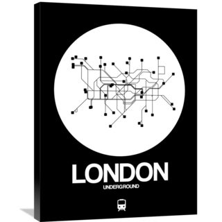 NAXART Studio 'London White Subway Map' Stretched Canvas Wall Art
