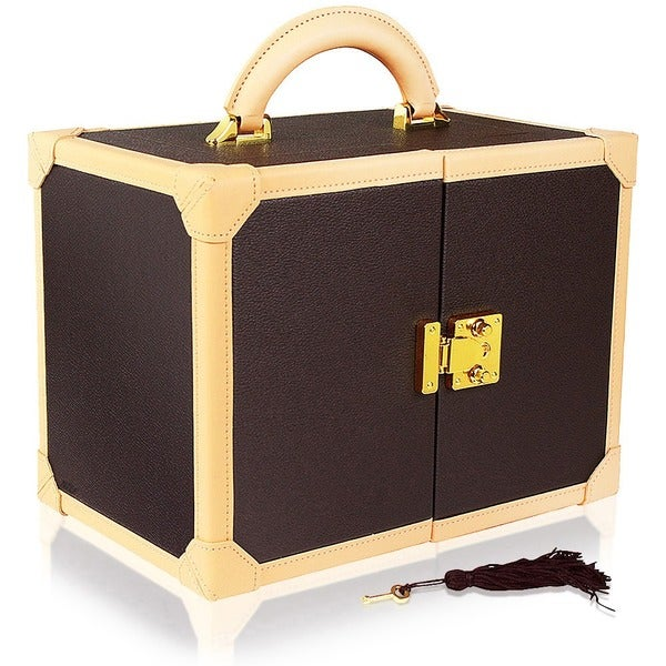 Ikee Design Premium Leatherette Jewelry Box Organizer Storage Chest