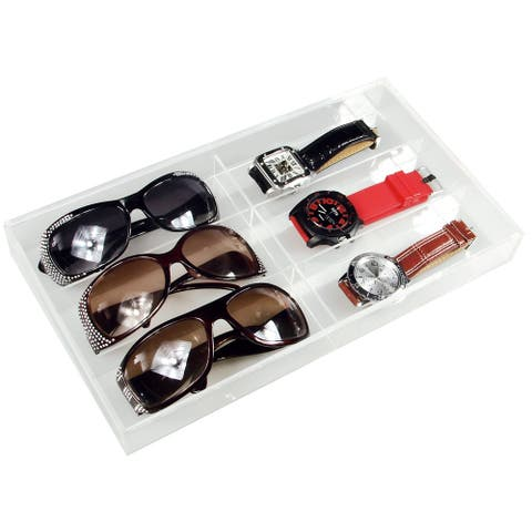 Ikee Design Acrylic 6 Pairs Eyewear and Watch Case Organizer