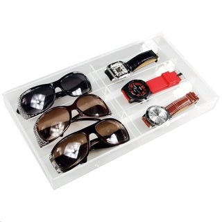 Ikee Design Acrylic Eyewear and Watch Case For 6 Pairs Storage