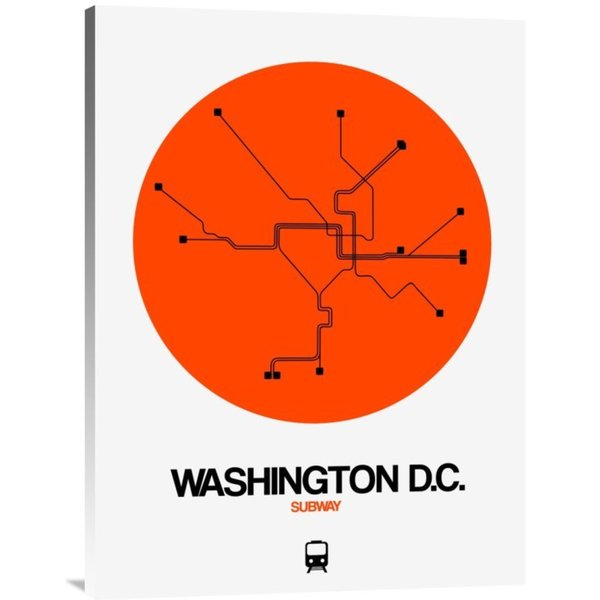 NAXART Studio 'Washington D.C. Orange Subway Map' Stretched Canvas Wall Art