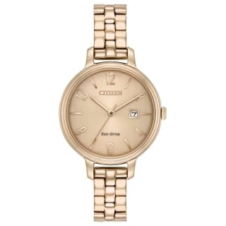 Citizen Stainless Steel Gold-Tone Eco-Drive Ladies Watch