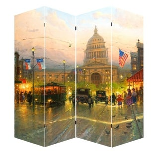 78-inch Capitol Hill Street Scene Canvas Room Divider