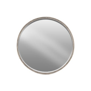 Urban Trends Collection Tarnished Silver Metal Round Wall Mirror