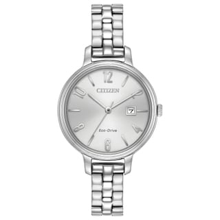 Citizen Women's EW2440-53A Eco-Drive Silvertone Stainless-steel Watch