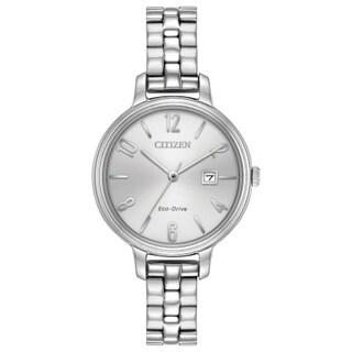 Citizen Women's EW2440-53A Eco-Drive Silvertone Stainless-steel Watch