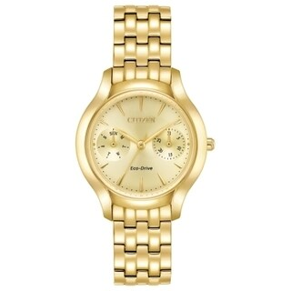 Citizens Women's FD4012-51P Eco-Drive Gold-tone Stainless Steel Watch