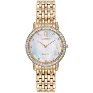 Citizen Women's Eco-Drive Rose-gold Stainless Steel Analog Watch