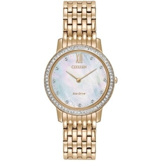 Citizen Women's EX1483-50D Eco-Drive Rose-Gold Stainless Steel Analog Watch