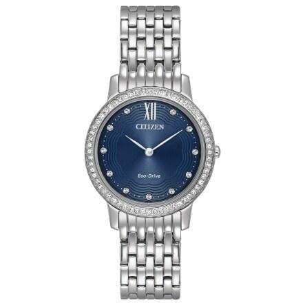 Citizen Women's EX1480-58L Eco-Drive Silvertone Stainless-steel Watch