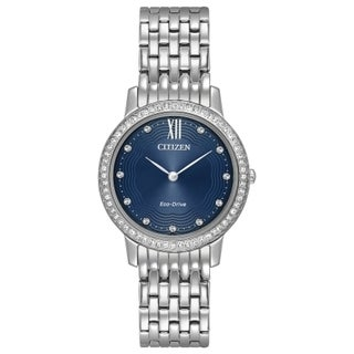 Citizen Women's EX1480-58L Eco-Drive Silvertone Stainless-steel Watch