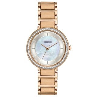 Citizen Women's EM0483-54D Eco-Drive Gold-Tone Stainless Steel Watch