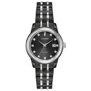Citizen Women's Eco-Drive Black Stainless Steel Wristwatch
