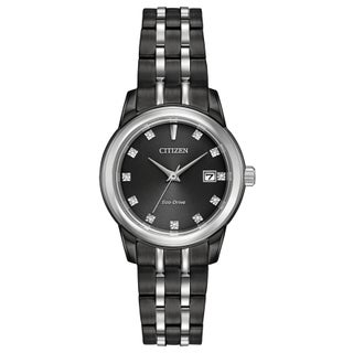 Citizen Women's EW2398-58E Eco-Drive Black Stainless Steel Watch