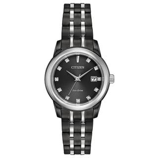 Citizen Women's EW2398-58E Eco-Drive Black Stainless Steel Watch|https://ak1.ostkcdn.com/images/products/14052966/P20668000.jpg?impolicy=medium