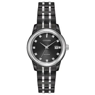 Citizen Women's EW2398-58E Eco-Drive Black Stainless Steel Watch