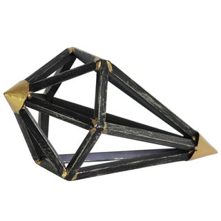 Urban Trends Collection Tarnished Black Metal Geometric Diamond Sculpture