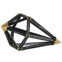 Urban Trends Collection Tarnished Black Metal Geometric Diamond Sculpture