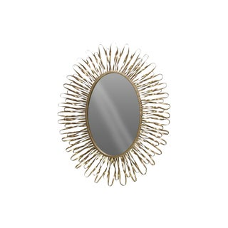 Urban Trends Collection Metallic Gold Metal Oval Wall Mirror