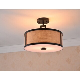 Pine Canopy Daniel Boone 2 Light Semi Flush Mount