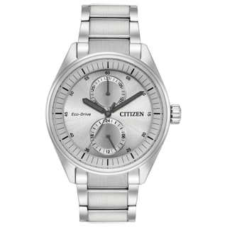 Citizen Men's BU3010-51H Eco-Drive Silvertone Stainless Steel Watch