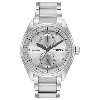 Citizen Men's Eco-Drive Silvertone Stainless Steel Watch