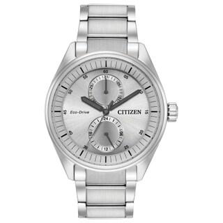 Citizen Men's Eco-Drive Silvertone Stainless Steel Watch