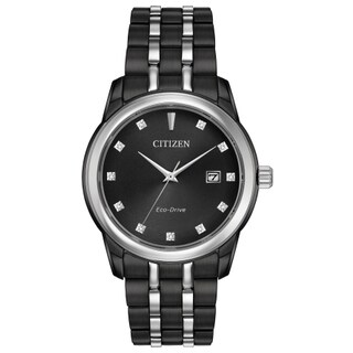 Citizen Eco-Drive Black Stainless Steel Men's Watch