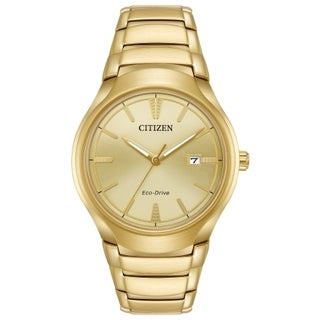 Citizen Men's AW1552-54P Eco-Drive Gold-Tone Stainless Steel Watch