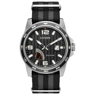 Men's Citizen AW7030-06E Eco-Drive Striped Band Watch