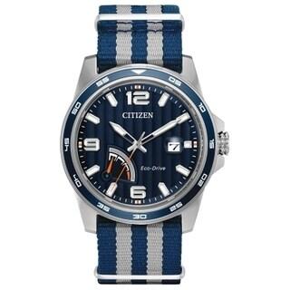 Citizen Men's AW7038-04L Eco-Drive Striped Band Watch