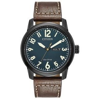 Citizen Men's BM8478-01L Eco-Drive Brown Leather Strap Watch