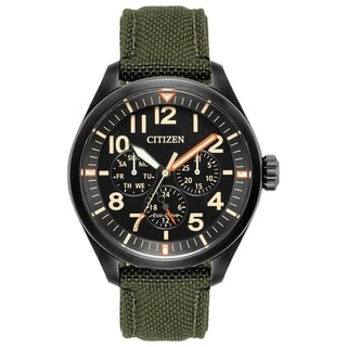 Citizen Men's BU2055-16E Eco-Drive Green Canvas Strap Watch