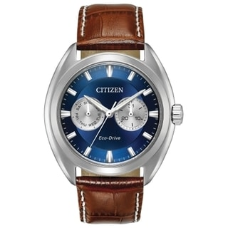Citizen Men's BU4010-05L Eco-Drive Brown Leather Strap Watch
