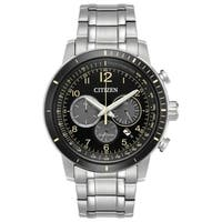 Citizen Men's  Eco-Drive Stainless Steel Subdial Watch