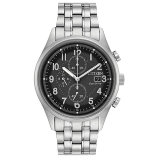 Citizen Men's CA0620-59H Eco-Drive Stainless Steel Chronograph Watch