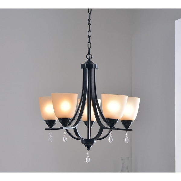 Design Craft Oak 5-light Chandelier