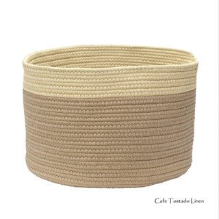Mona-Mi Large Color Dipped Storage Basket 14x14x14 (Option: Beige/Taupe/Off-White)