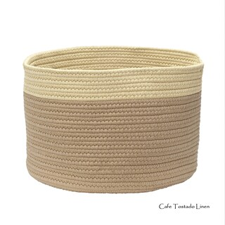 Mona-Mi Small 10-inch Color Dipped Storage Basket (Option: Beige/Taupe/Off-White)