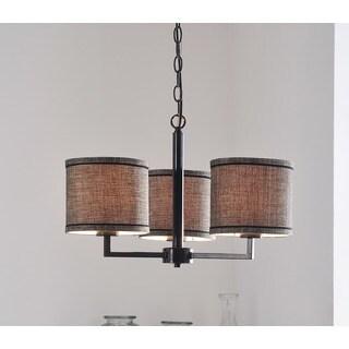 Design Craft Stewart Blackened Oil Rubbed Bronze 3-light Chandelier