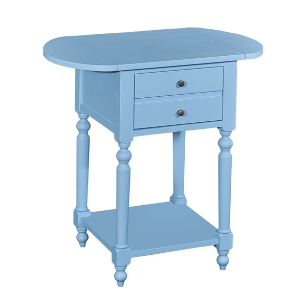 Shiloh Ocean Blue Accent Table with Dropleaf