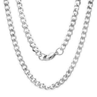 Men's Steeltime Stainless Steel Curb Chain Necklace