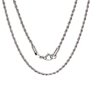 Steeltime Men's Stainless steel Rope Chain Necklace