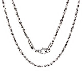 Link to Steeltime Men's Stainless steel Rope Chain Necklace Similar Items in Men's Jewelry