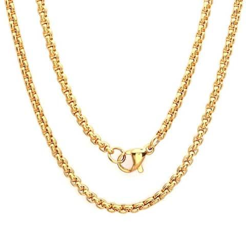 Steeltime Men's Gold Tone Coreana Chain