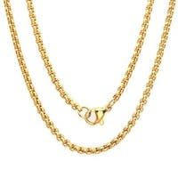 Steeltime Men's Gold Tone Coreana Chain